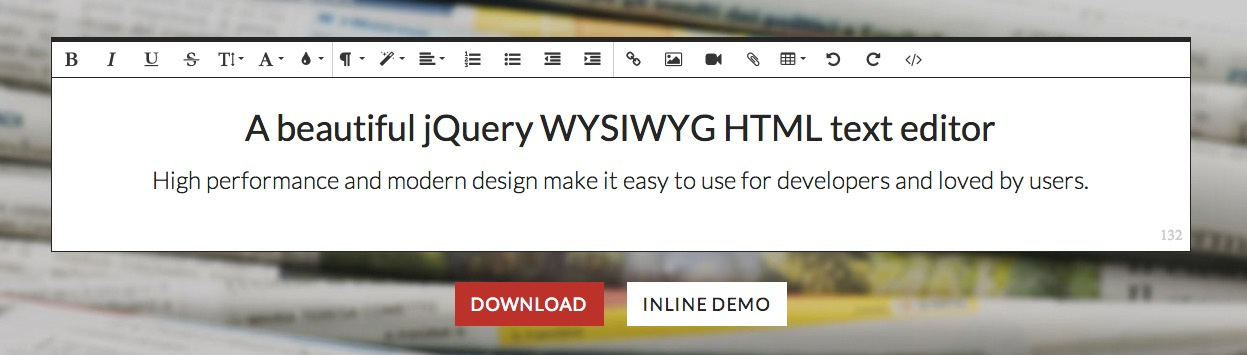 WYSIWYG HTML Editor   Free for non-commercial   Froala