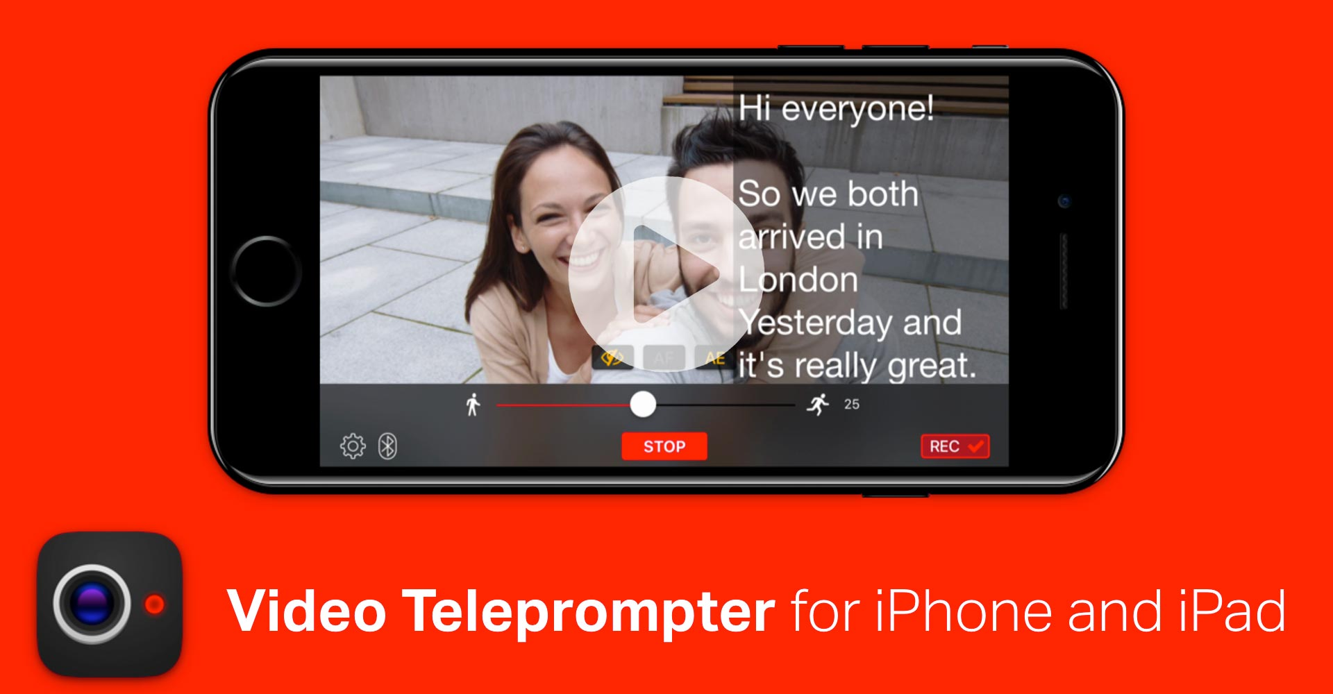 Video Teleprompter for iPhone and iPad - @mwender